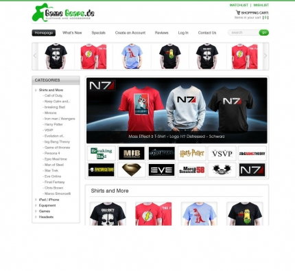 Gamegears neues Design